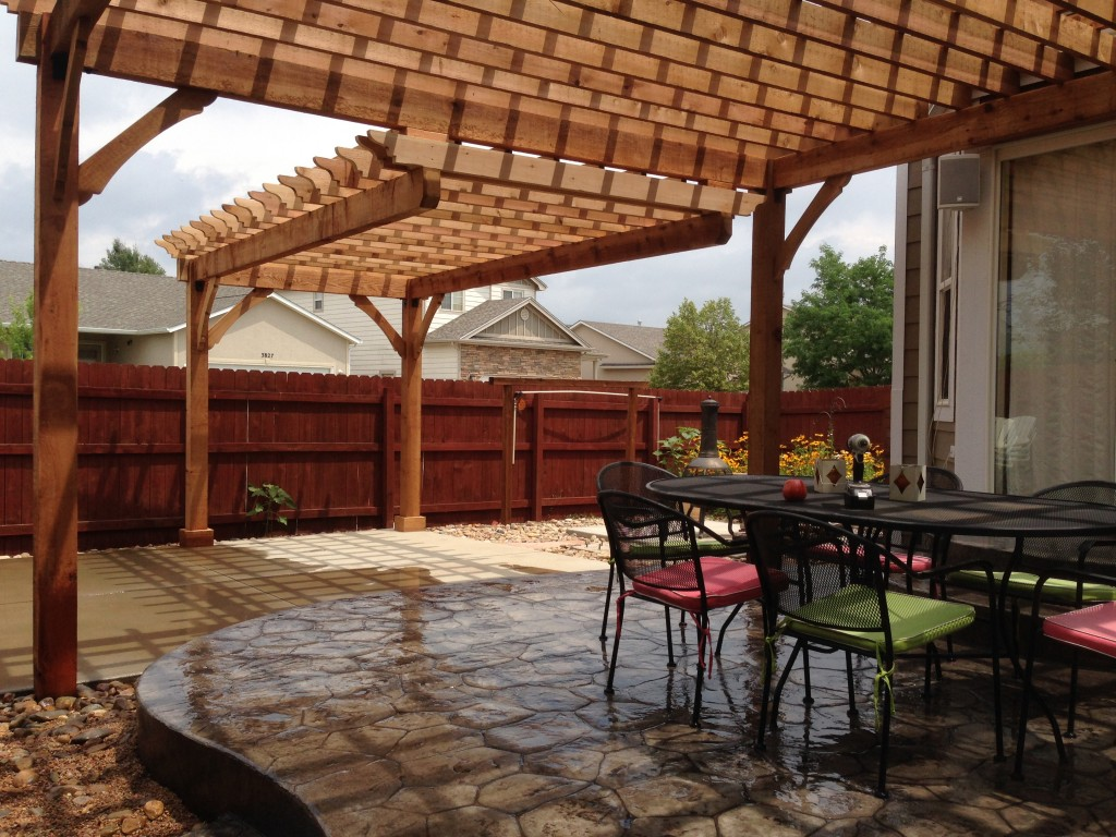 Centered Beam Pergolas Fort Collins Amp Windsor Co Outrigger Landscaping