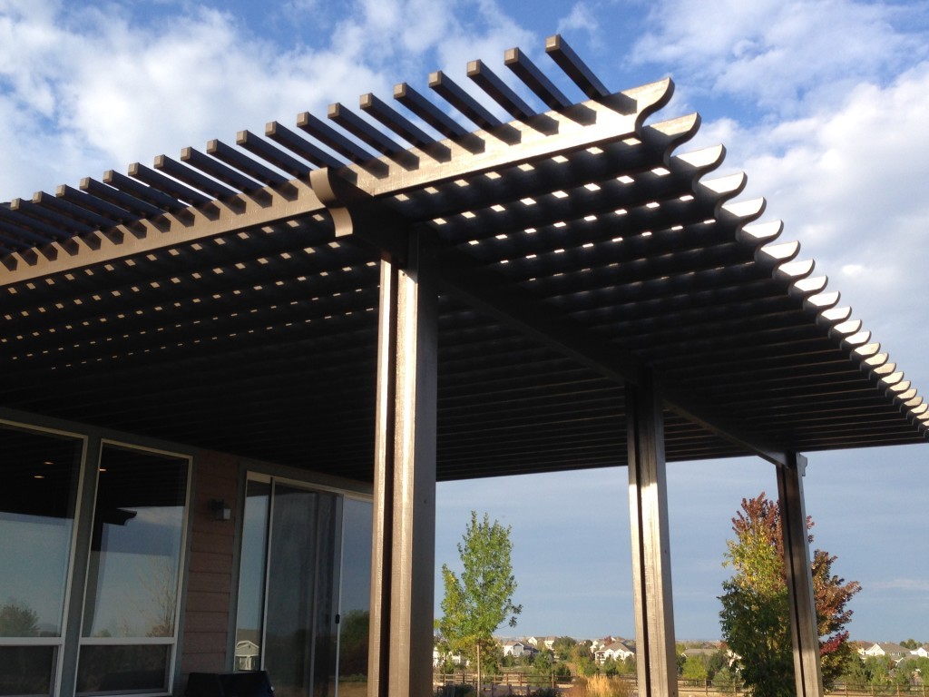 Aluminum pergolas fort collins windsor co outrigger for Steel shade structure design