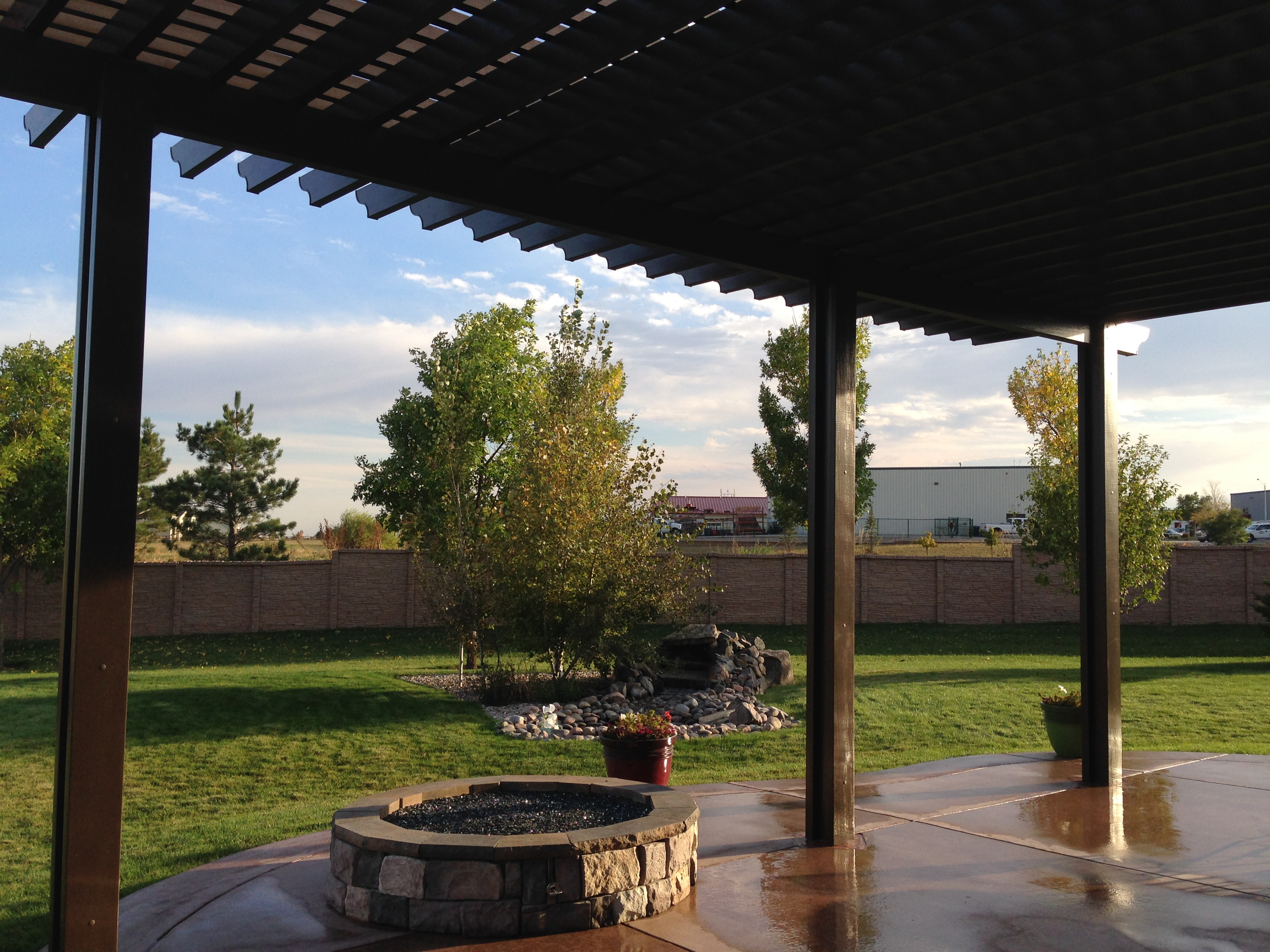 This Attached Aluminum Pergola Was Built Over An Existing Concrete Patio  And Offers Incredible Shade That Will Last A Lifetime. The Posts Are  Reinforced ...